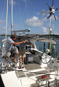 Solar Installation on Boat